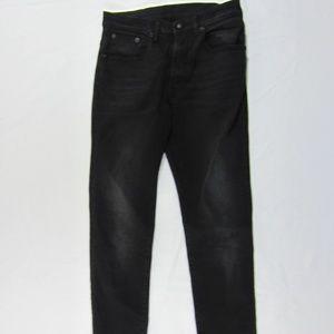 R13 559 Vintage Rebel Black High Rise Jeans Sz 27